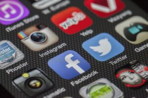 twitter, facebook, together